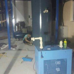 Lắp đặt bình tích khí và máy sấy khí Pegasus