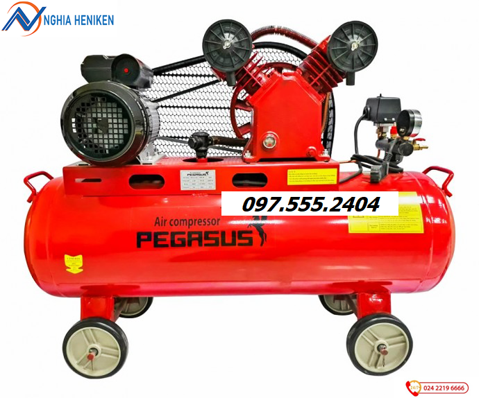 Máy nén khí Pegasus 70 lít, 1.5Hp , model TM-V-0.12/8-70L