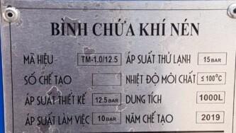 Model Binh Tich Khi Pegasus 1000l