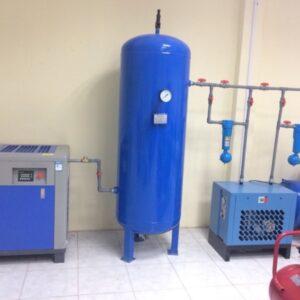 Sơ đồ bình tích khí và máy sấy khí